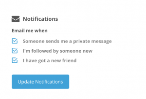 Notifications by email